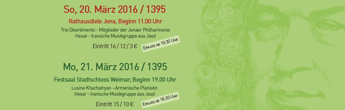 Deutsch - Iranische Doppelkonzerte in Jena und Weimar